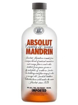 Rượu Vodka Absolut Mandrin (Cam)